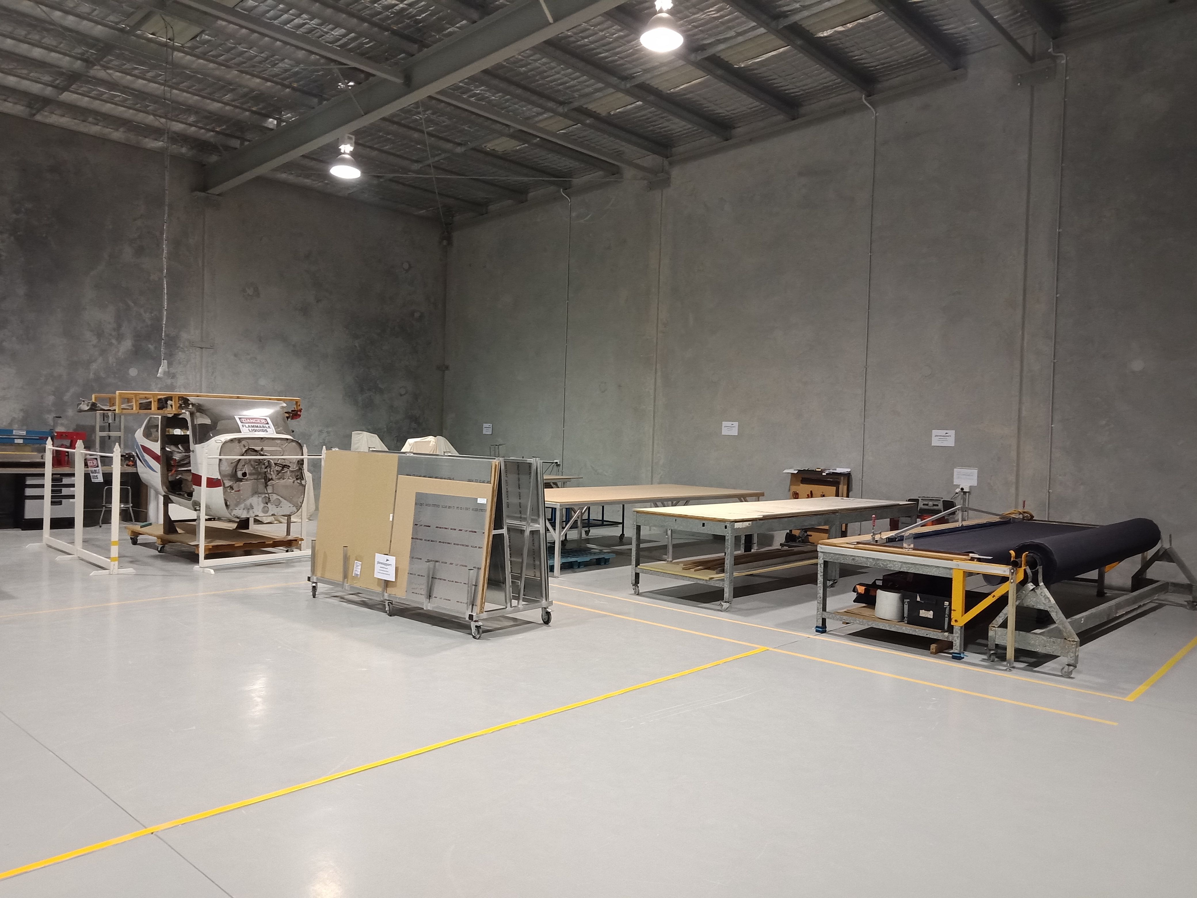 Plane Support new premises